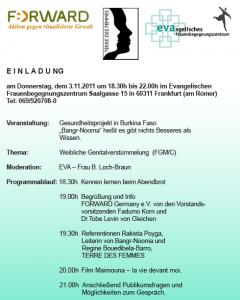 Einladung Forward EVA TDF