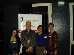 Gruppenbild mit Bernhard Hoffmann, dem Organisator des Festivals